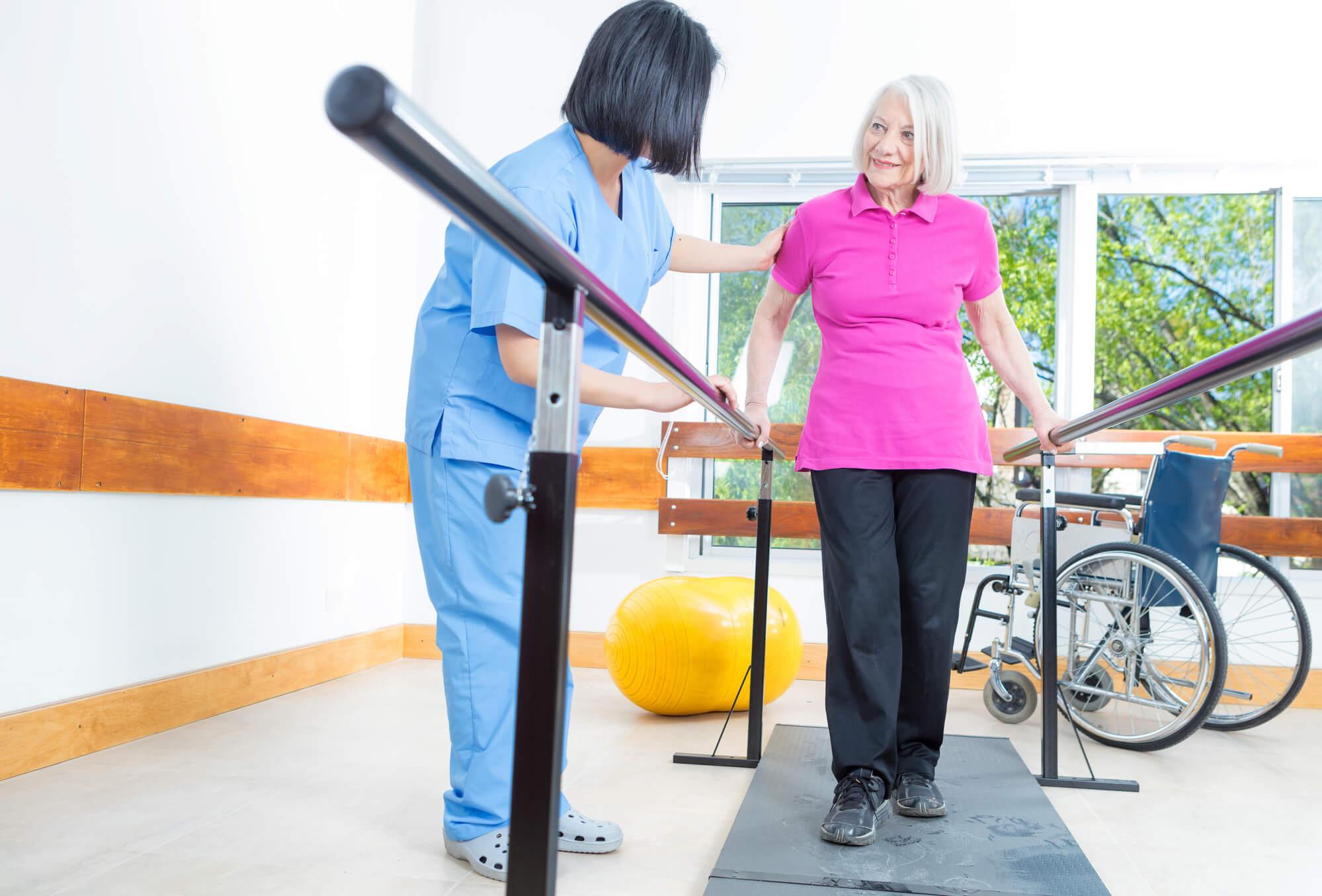 שבר במפרק הירך - טיפול פיזיותרפי